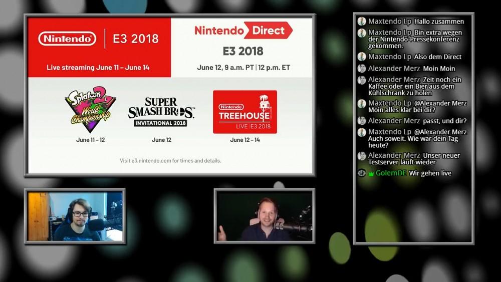 Nintendo E3 2018 Direct - Golem.de Live