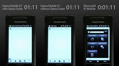 Opera Mobile 9.7 mit Turbomodus - Video