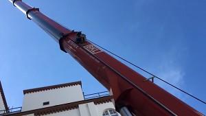 Telekom zeigt die Montage eines 5G-Mobilfunkstandorts