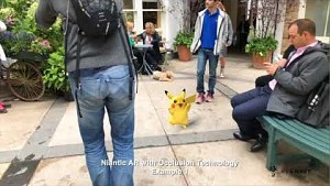 Niantic Occlusion - Trailer (AR mit Pikachu and Eevee)