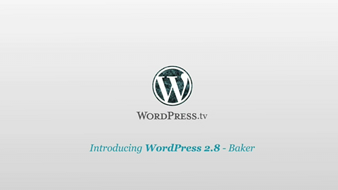 WordPress 2.8 alias Baker - Vorstellung