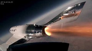 Dritter Flug der VSS Unity mit Raketenantrieb