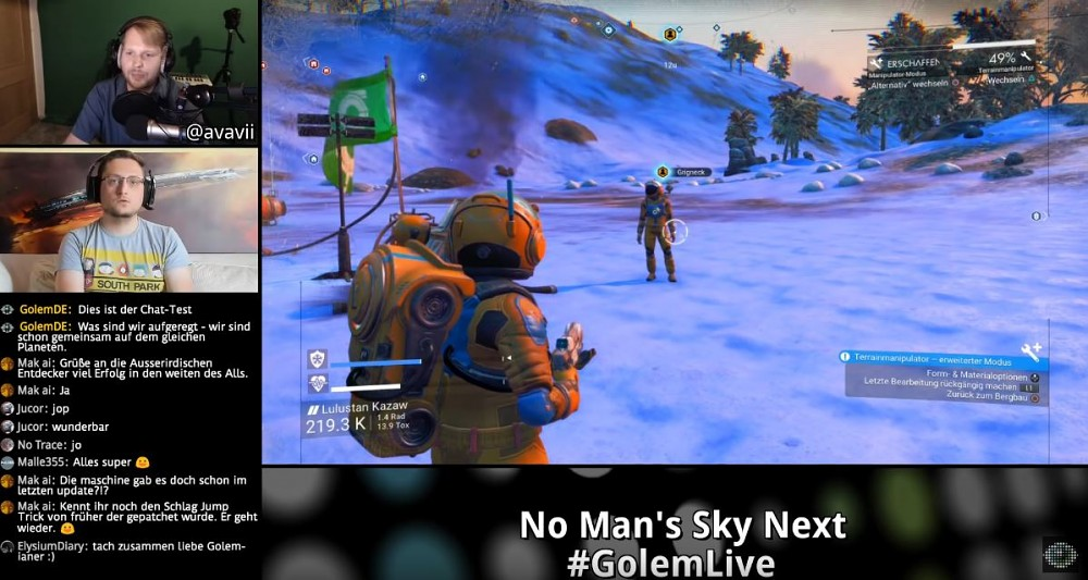 No Man's Sky Next - Golem.de Live