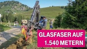 Breitbandausbau der Telekom auf 1.540 Metern Höhe