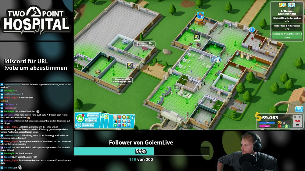 Two Point Hospital - Golem.de live