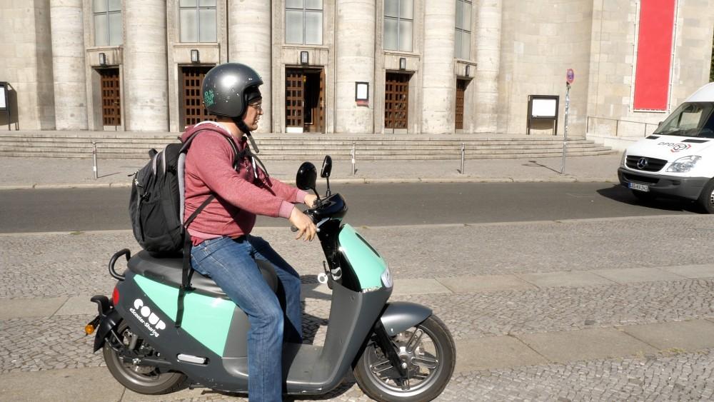 Coup Elektroroller in Berlin - Kurzbericht