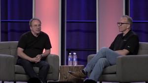 Linus Torvalds im Gespräch mit Dirk Hohndel