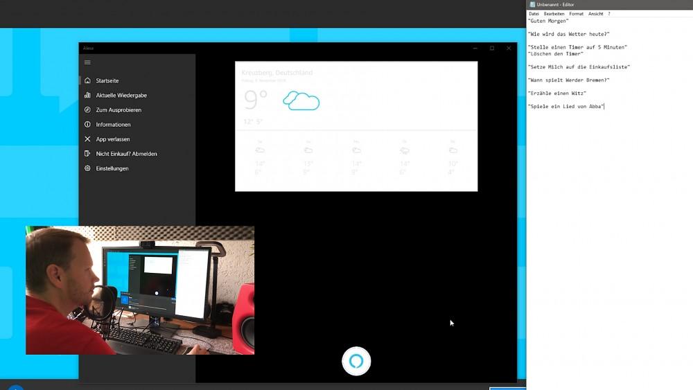 Alexa-App für Windows 10 ausprobiert