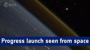 Flug eines Progress-Raumfrachters - Esa