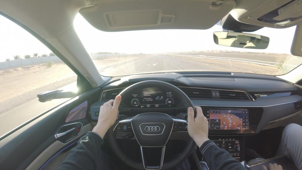 Probefahrt mit dem Audi E-Tron - Bericht