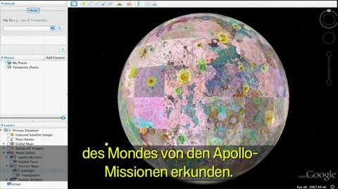 Der Mond in Google Earth - Video
