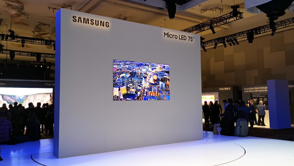 Samsung Micro-LED-TV angesehen (CES 2019)