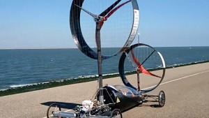 Rennauto mit Windantrieb - Inventus