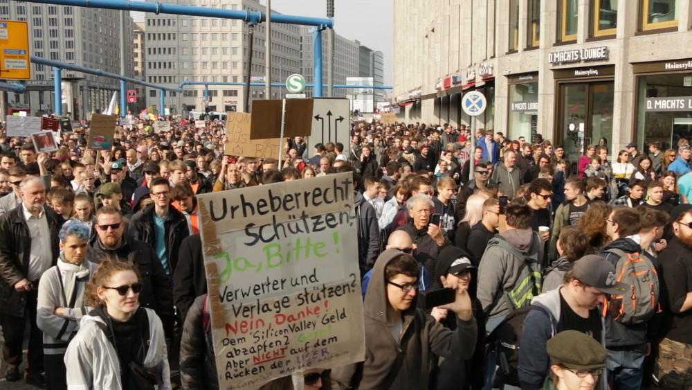 Demo gegen Uploadfilter in Berlin - Bericht