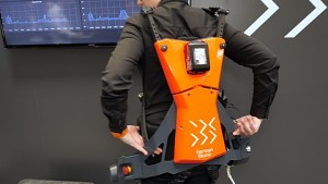 Cray X Exoskelett angesehen (Hannover Messe 2019)