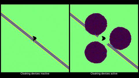 Broadband exterior cloaking - Simulation einer Tarnvorrichtung