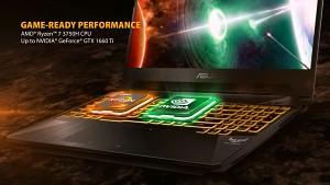 Asus zeigt TUF FX505 mit AMD-Chip und Geforce-Grafik