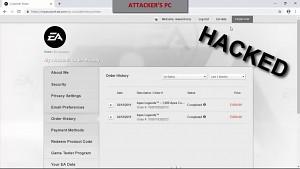 Cyberint übernimmt Konto von EA-Nutzer