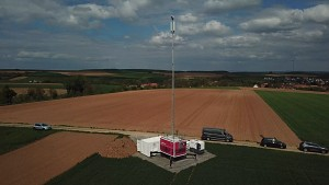 Mobilfunkmast mit Brennstoffzelle - Telekom