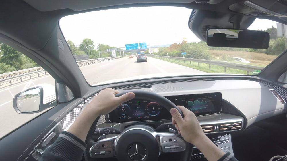 Mercedes EQC Probe gefahren