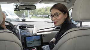 Eine Fahrt im autonomen Auto von Nvidia (Firmenvideo)