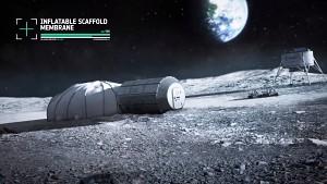 Konzept einer Mondbasis aus dem 3D-Drucker (ESA)