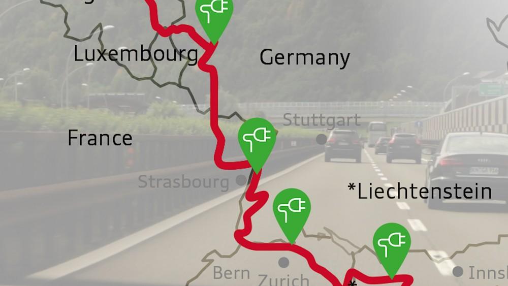 1.000-Meilen-Strecke mit dem E-Tron - Bericht