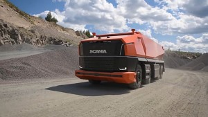 Fahrerloser Kipplaster Scania AXL - Herstellervideo