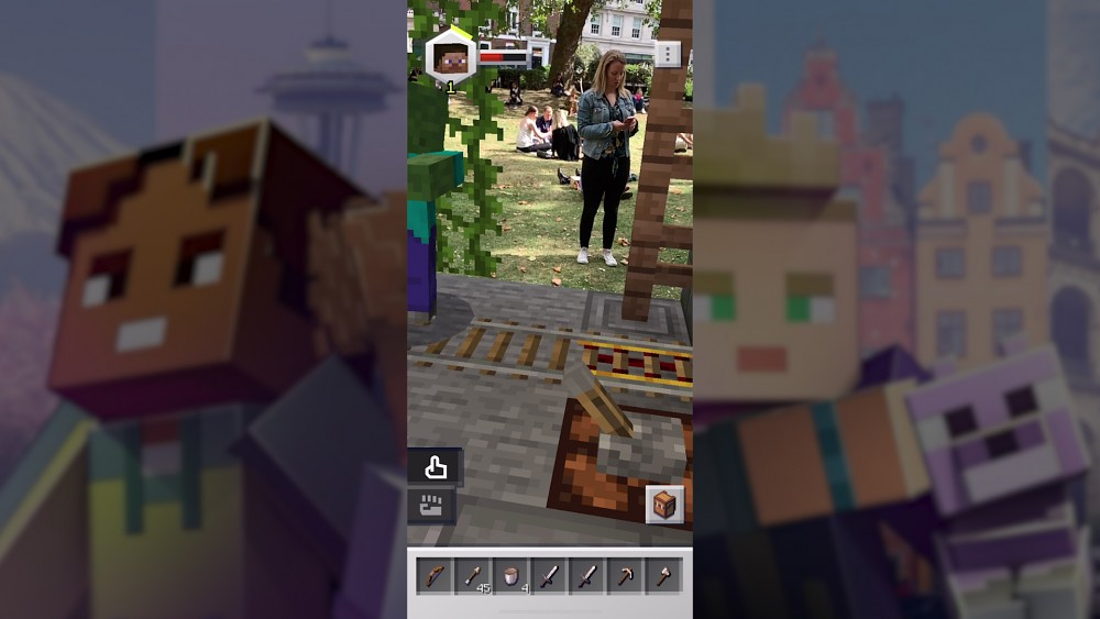 Minecraft Earth - Gameplay