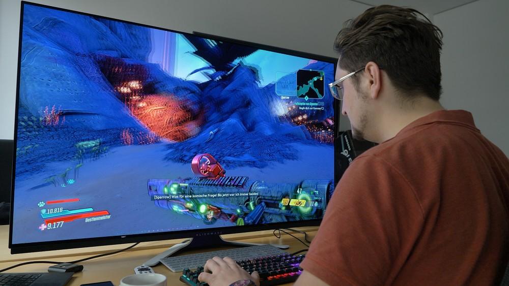 55-Zoll-OLED-Monitor von Alienware - Test