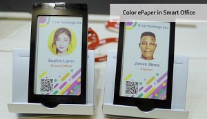 E Ink zeigt farbiges E-Paper (Touch Taiwan 2019)