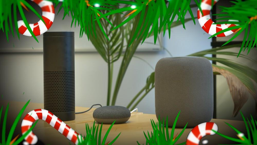 Digitale Assistenten singen Weihnachtslieder (ohne Signalworte)