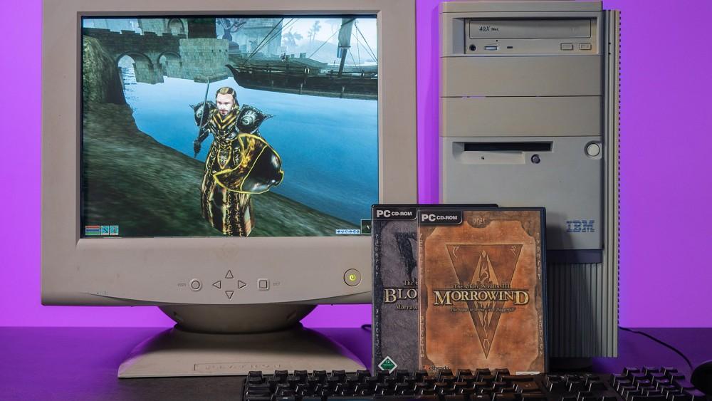 TES Morrowind (2002) - Golem retro_