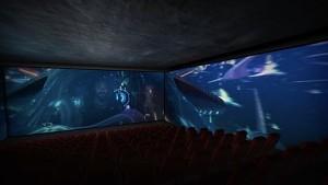 Aquaman in ScreenX - Werbedemonstration