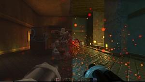 Quake 2 RTX - mit und ohne Raytracing im Vergleich