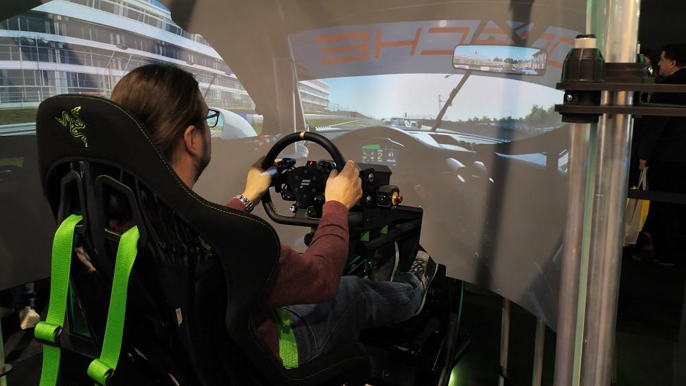 Razer Eracing Simulator ausprobiert (CES 2020)
