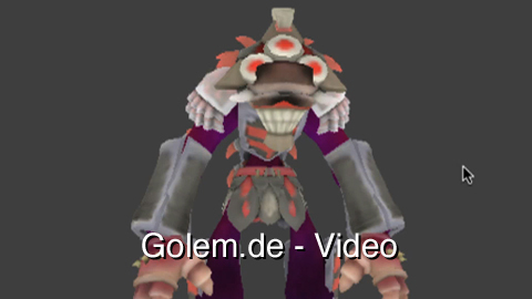 WebGL-Demo 3D-Spore-Kreatur in Firefox
