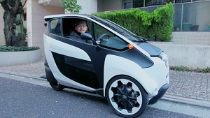 Toyota i-Road Testfahrt in Tokio (Herstellervideo)