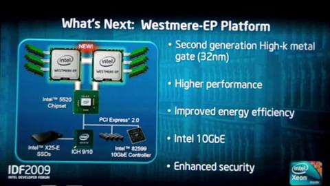 Intel-Westmere-EP-Plattform-Präsentation - IDF 2009