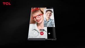Konzept-Smartphone mit ausrollbarem Display - Herstellervideo von TCL
