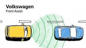 Volkswagen erklärt Front Assist mit Sensor im Touareg