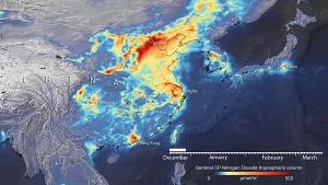Entwicklung der Stickoxid-Emissionen in China - Esa