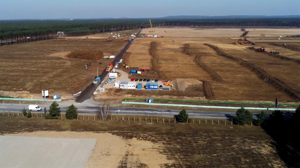 Tesla-Baustelle in Grünheide - Eindrücke (März 2020)