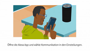 Vodafone One Number Calling mit Alexa