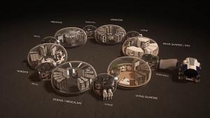 Entwurf für eine Marsbesiedlung (Hassell EOC)