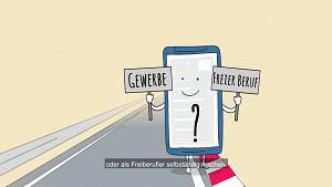 Schritt in die Selbstständigkeit (Finanzverwaltung NRW)