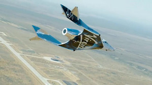 Testflug des Spaceship Two in New Mexico - Virgin Galactic