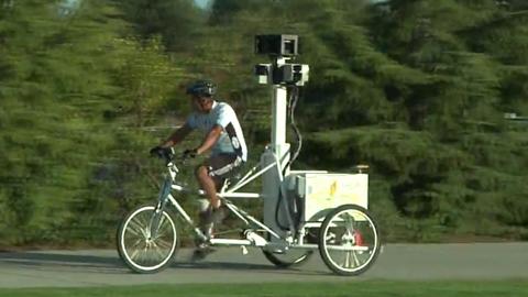Google stellt Dreirad zum Aufzeichnen von Google Street View vor