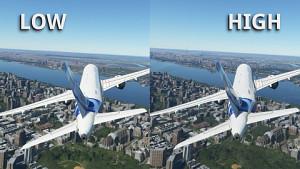 Flight Simulator Grafikvergleich (Low, Medium, High, Ultra)