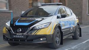 Nissan Re-Leaf als fahrendes Notstromaggregat